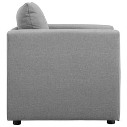 Activate Upholstered Fabric Armchair (Light Gray)