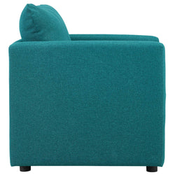 Activate Upholstered Fabric Armchair (Teal)