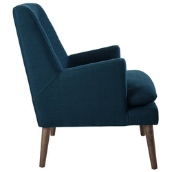 Leisure Upholstered Lounge Chair (Azure)