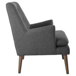 Leisure Upholstered Lounge Chair (Gray)