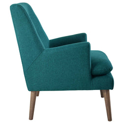 Leisure Upholstered Lounge Chair (Teal)