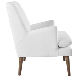 Leisure Upholstered Lounge Chair (White)