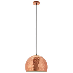 "Dimple 13.5"" Half-Sphere Rose Gold Pendant Light ()"