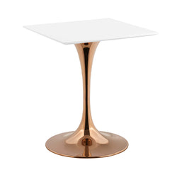 "Lippa 24"" Square Dining Table (Rose White)"