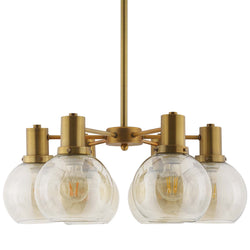 Resound Amber Glass And Brass Pendant Chandelier ()