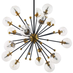 Constellation Clear Glass and Brass Ceiling Light Pendant Chandelier ()