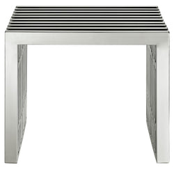 Gridiron Small Stainless Steel Bench (Silver)