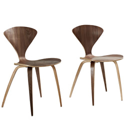 Vortex Dining Chairs Set of 2 (Dark Walnut)