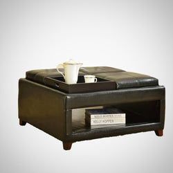 My Decor Center - Free Ground Shipping - Acme Furniture, Ottoman, Gosse - Ottoman With 4 Trays Oversized (Dark Brown PU)