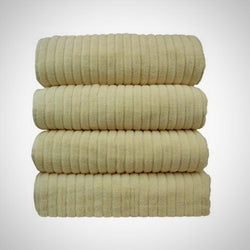 Luxe Cream Cotton Ribbed Towel