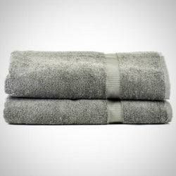 Luxe Grey Cotton Bath Sheets