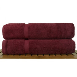 Luxe Wine Cotton Bath Sheets