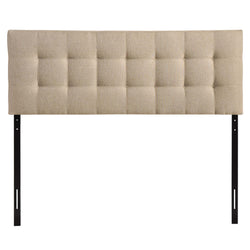 Lily Queen Upholstered Fabric Headboard (Beige)