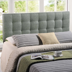 Lily Full Upholstered Fabric Headboard (Gray)