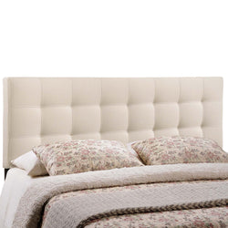 Lily Full Upholstered Fabric Headboard (Ivory)