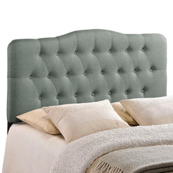 Annabel Queen Upholstered Fabric Headboard (Gray)