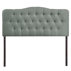 Annabel King Upholstered Fabric Headboard (Gray)