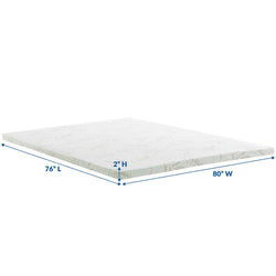 "Relax King 2"" Gel Memory Foam Mattress Topper ()"