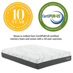 "Elysse King CertiPUR-US® Certified Foam 12"" Gel Infused Hybrid Mattress ()"