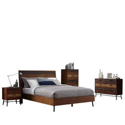 Arwen 5 Piece Queen Bedroom Set (Walnut)