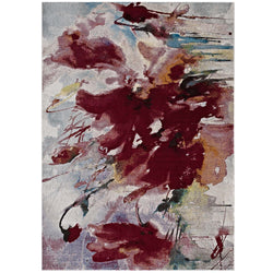 Blume Abstract Floral 4x6 Area Rug (Multicolored)