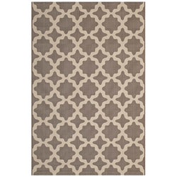 Cerelia Moroccan Trellis 5x8 Indoor and Outdoor Area Rug (Light and Dark Beige)