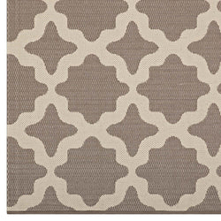 Cerelia Moroccan Trellis 8x10 Indoor and Outdoor Area Rug (Light and Dark Beige)