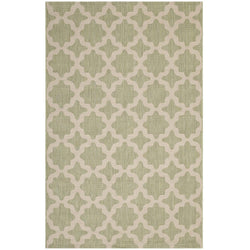Cerelia Moroccan Trellis 5x8 Indoor and Outdoor Area Rug (Beige and Light Green)
