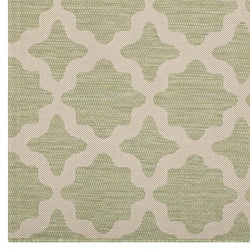 Cerelia Moroccan Trellis 8x10 Indoor and Outdoor Area Rug (Beige and Light Green)