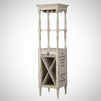 My Decor Center - Anthony Wine Cabinet (Antique White)