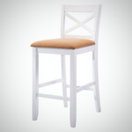 My Decor Center - Tobie Bar Chair (Fabric & White)