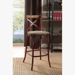 My Decor Center - Zaire Bar Chair (Antique Red)