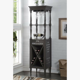 My Decor Center - Anthony Wine Cabinet (Antique Gray)