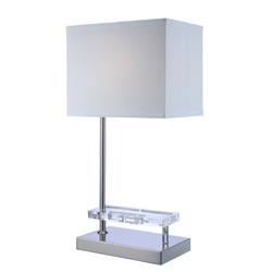 My Decor Center - Free Shipping - Acme Furniture, Britt - Table Lamp (Sandy Nickel) w/ USB Power Dock