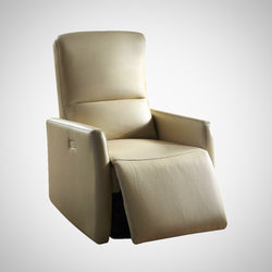 My Decor Center - Raff Recliner Power Motion (Beige Leather-Aire)