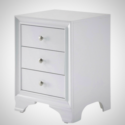 My Decor Center - Free Shipping - Acme Furniture, Blaise - Nightstand 3 Drawer (White)