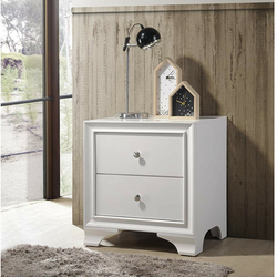 My Decor Center - Free Shipping - Acme Furniture, Blaise - Nightstand 2 Drawer (White)