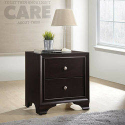 My Decor Center - Free Shipping - Acme Furniture, Blaise - Nightstand 2 Drawer (Espresso)