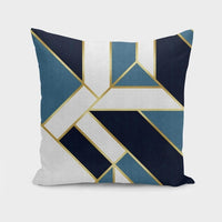 Geometric Blue - Throw Pillow