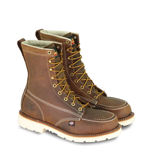 "Thorogood Boots 804-4378 American Heritage 8"" Trail Crazyhorse Safety Toe Moc Toe"