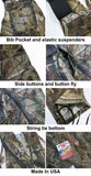 Round House Bibs #851 Realtree Camo Overalls - Made In USA