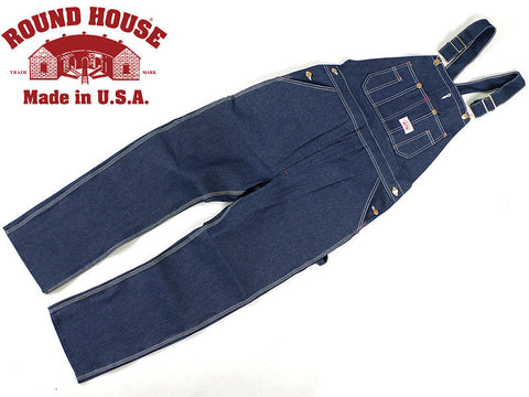 Round House Bibs #907 Low Back Denim Overalls - Made In USA