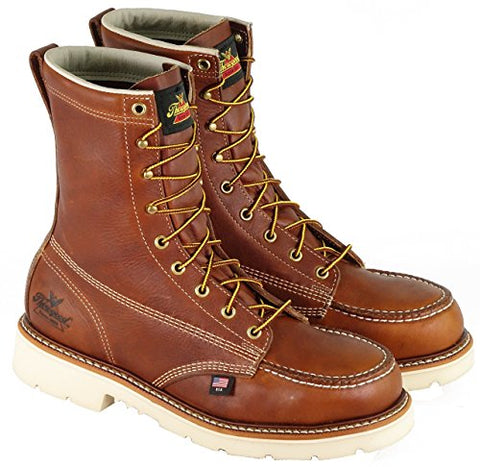"Thorogood Boots 804-4308 8"" Moc Toe Steel Toe American Heritage EH - Made In USA"
