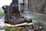 "Thorogood Boots 804-3800 Steel Toe Waterproof 8"" Moc Toe American Heritage AH-1957 EH - Made In USA"