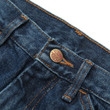 Round House Jeans #1010 Carpenter Work Dungaree Dark Stone Washed - Made In USA