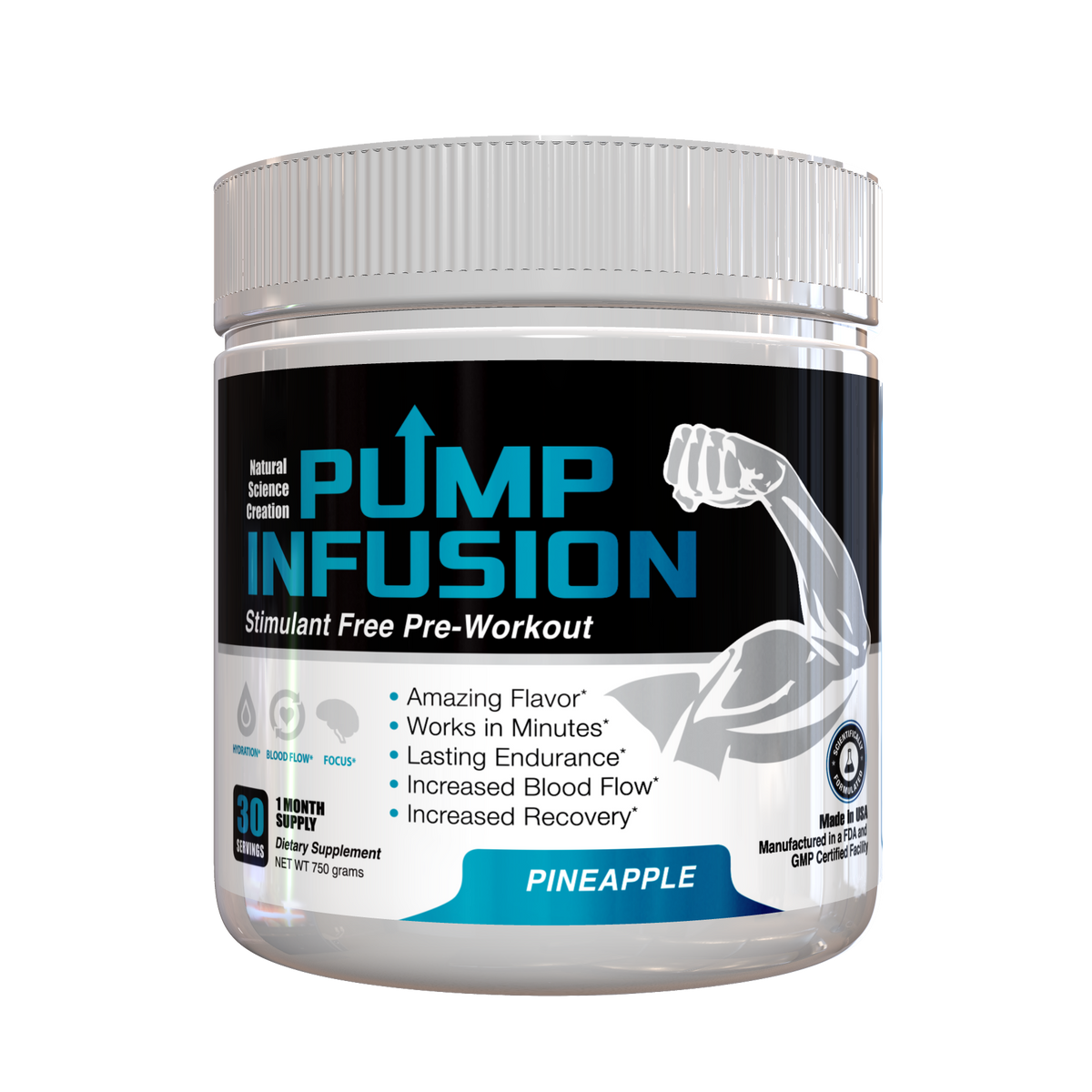 NEW! Pump Infusion Pineapple (Stimulant Pre-Workout)