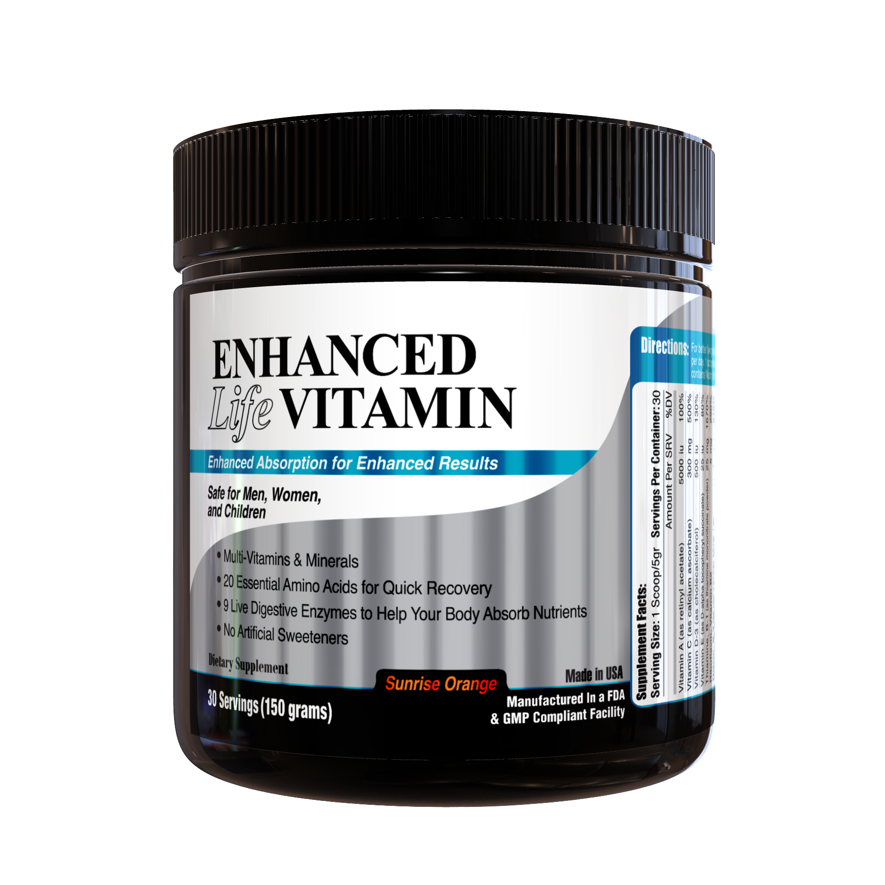Enhanced Life Vitamin (Sunrise Orange)