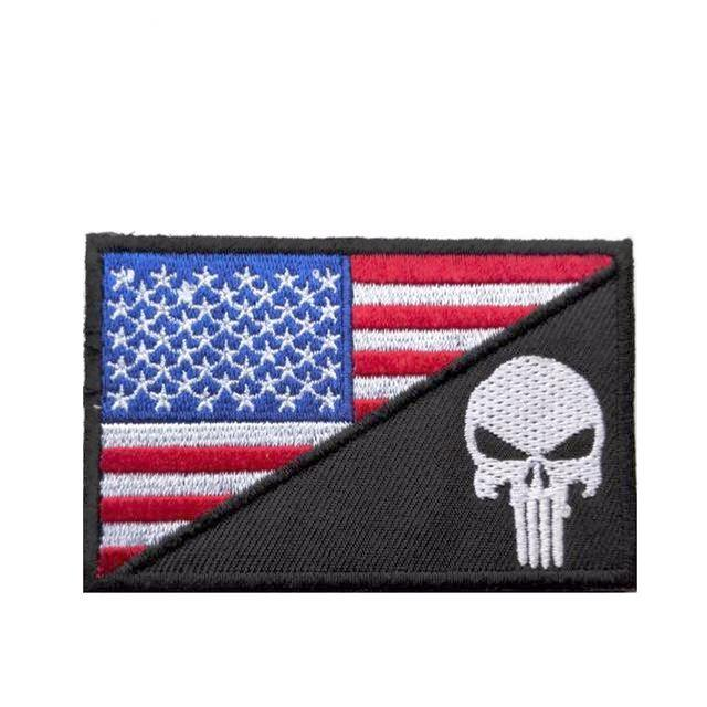 American Flag + Skull Patch