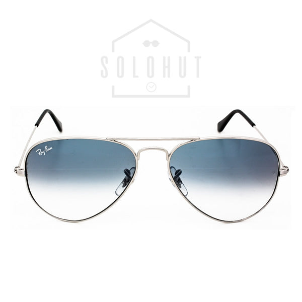 Ray-Ban Aviator Light Blue Gradient Lens with Silver Frame RB3025 ...