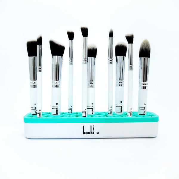 Make Up Brush Stand for Kids Make Up Brushes in Aqua